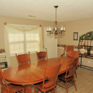 Free Will Baptist group home dining room table