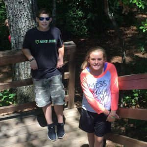 enjoying the outdoors at Free Will Baptist Children's Home