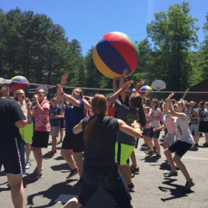giant beach volleyball game